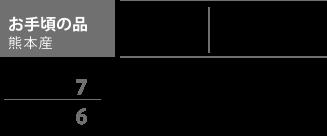 お手頃の品 熊本産 表替価格,¥8,800 新畳価格(建材床使用),¥14,000 長持ち,7 見た目,6 国産にこだわりたいけど、価格を抑えたい方にオススメの畳です。